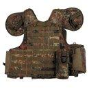 Taktische Einsatz-Weste Combat mit SWAT-Logo & Molle-System von MFH