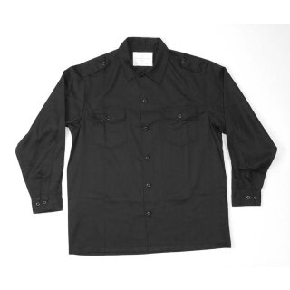 Hemd  US-Style, langarm, Farbe: schwarz