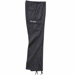 Security- Hose von Brandit / Ranger-Hose in schwarz  mit bestickten Beintaschen