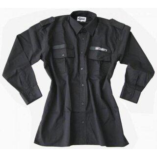 Hemd ´Security´ langarm schwarz