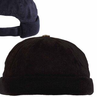 Cap ohne Schild von Pro Company, schwarz oder blau mit Klettverschluss