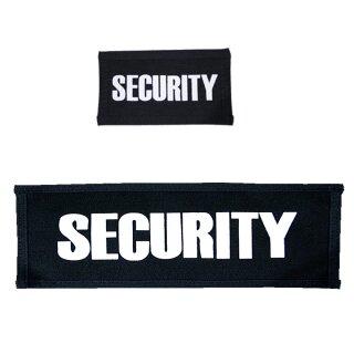 Securitypatch für  Brust oder Rücken mit Klett auf der Rückseite