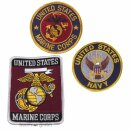 Abzeichen U.S. Marine Corps in 2 Modellen oder U.S. Navy