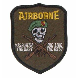 """Abzeichen """"U.S. Airborne - mess with the best""""  oder """"U.S. Air Force F-14 Piloten"""""""