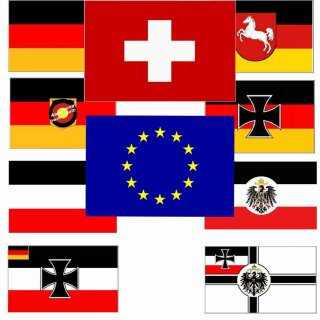 Fahne, verschiedene Motive, Maße 90 x 150 cm