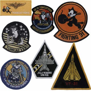 Abzeichen US-Navy VF-31 TOMCATTERS/VF-32 Swordsmen/VF103 Jolly Rogers -original ARMY Style- wahlweise in 7 Motiven
