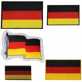 Abzeichen Deutschland-Fahne verschiedene Größen und Modelle