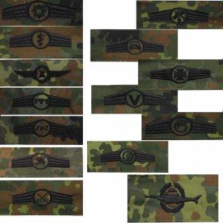 Tätigkeitsabzeichen der Bundeswehr, flecktarn mit schwarzem Stick