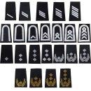 Rangschlaufen für Schulterklappen (Heer) für die Deutsche Bundeswehr, schwarz mit weißem oder goldenem Stick