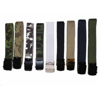 Stoff-Gürtel mit Metallschloß von MFH (Breite 30 mm)