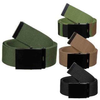 Stoff-Gürtel mit Metallschloß von MFH (Breite 45 mm)