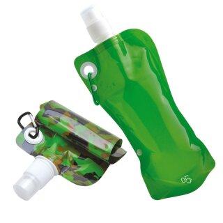 Faltflasche Kinzig von baladéo 0,5 Liter in grün oder camo