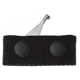 Handschellenschlüssel  aus Edelstahl m. Verriegelungsdornmit Gürtelabstandshalter bzw. Befestigung