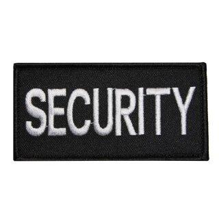 Securitypatch Brust, gestickt mit Klett  10 x 5,2 cm