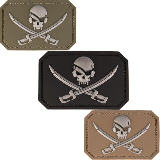 Emblem 3D Patch Skull + Swords / Totenkopf mit Schwertern