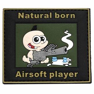 Emblem 3D PVC Natural born Airsoft Player #15406