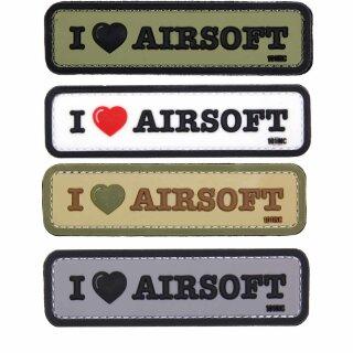 Emblem 3D PVC I love AIRSOFT