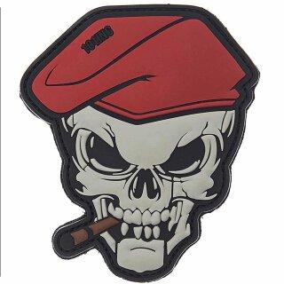 Emblem 3D PVC Skull mit Zigarre & Barett #10121