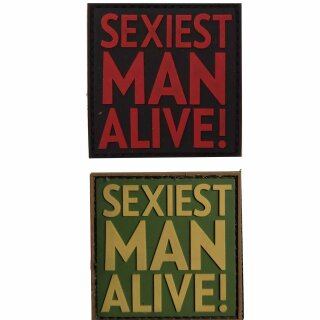 Emblem 3D PVC Sexiest Man Alive