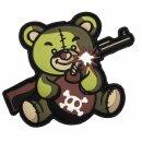 Emblem 3D PVC Terror Teddy  grün #9014