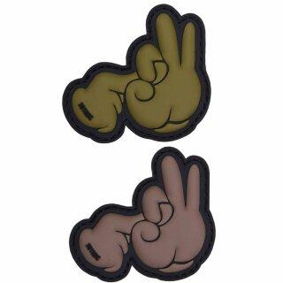 Emblem 3D PVC Fuck Finger