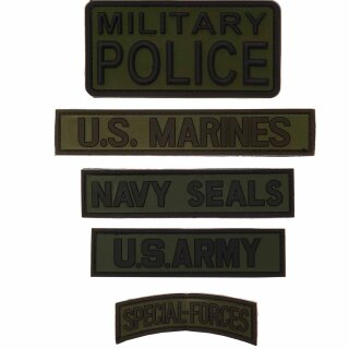 """Emblem PVC """" Navy Seals / Military Police / U.S. ARMY / U.S. Marines oder Special Forces"""""""