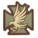 Emblem 3D PVC Eisernes Kreuz mit Adler-Iron Eagle #12068