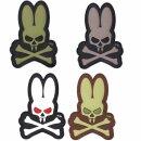 Emblem 3D PVC Skull Bunny