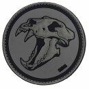 Emblem 3D PVC Sabertooth Tiger grau-schwarz