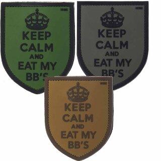 Emblem 3D PVC Keep Calm And Eat My BBs