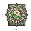 Emblem 3D PVC 101 INC Fear None Respect Few #4104