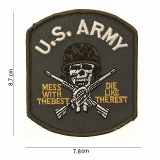 Stoff-Emblem US Army-MESS WITH THE BEST #11701