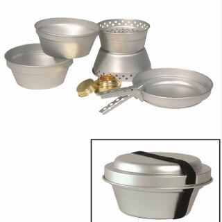 Koch-Set (2 Töpfe, 1 Pfanne, 1 Kocher) von MIL-TEC®