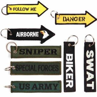 Schlüsselanhänger SWAT / Sniper / Special Forces / US Army /  Biker / Danger / Follow Me / Airborne