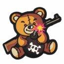Emblem 3D PVC Terror Teddy braun #9013