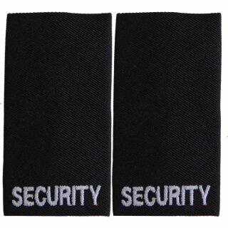 """Aufschiebeschlaufen / Rangschlaufen """"Security"""" schwarz m. weißem Stick"""