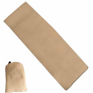 Hüttenschlafsack Lusen von Fox Outdoor, Farbe: beige