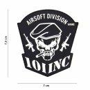 Emblem 3D PVC Airsoft Division von 101 INC. schwarz #18079