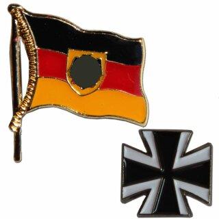 Pin Deutschland Dienstflagge mit Adler oder Eisernes Kreuz