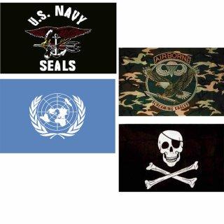Fahne Pirat, Airborne, U.S. Navy Seals oder UN 1 x 1,50 m