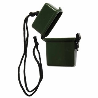 Wasserdichte Box von Fosco Industries mit Nackenband, Farbe: oliv