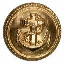 Schraubknopf  Marine 17 mm Farbe: gold (2 Stück)