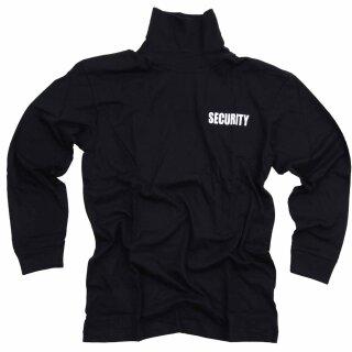 Langarmshirt m. Rollkragen & Security-Aufdruck 100% Baumwolle