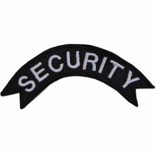 Security Abzeichen gebogene Form 1,8 x 9 cm