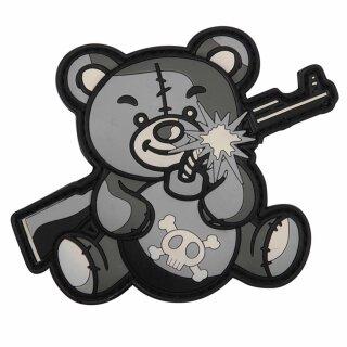 Emblem 3D PVC Terror Teddy grau #9015