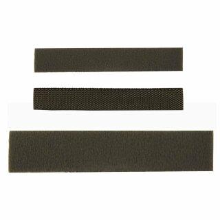 Klettband Flausch oder Haken in 2 Größen Farbe: oliv 5er oder 10er Pack