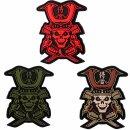 Emblem 3D Rubber Patch Samurai Skull