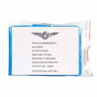 Notfall-Poncho (für Militär-Flugbesatzungen)