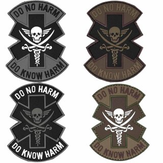 Emblem 3D PVC DO NO HARM DO KNOW HARM