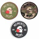 Emblem 3D Rubber Patch Memento Mori 101 INC Ø 7,9 cm